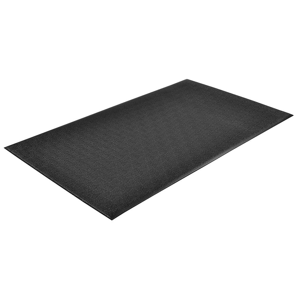 "Notrax T41S0423BL Comfort Rest Anti-Fatigue Floor Mat, 2 x 3 ft, 9/16"" Thick, Coal"