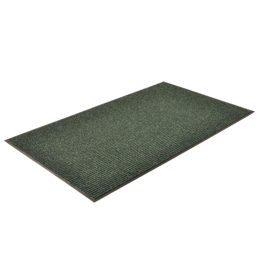 "Notrax T39S0035GN Bristol Ridge Scraper Floor Mat, 3 x 5 ft, 1"" Vinyl Border, Forest Green"