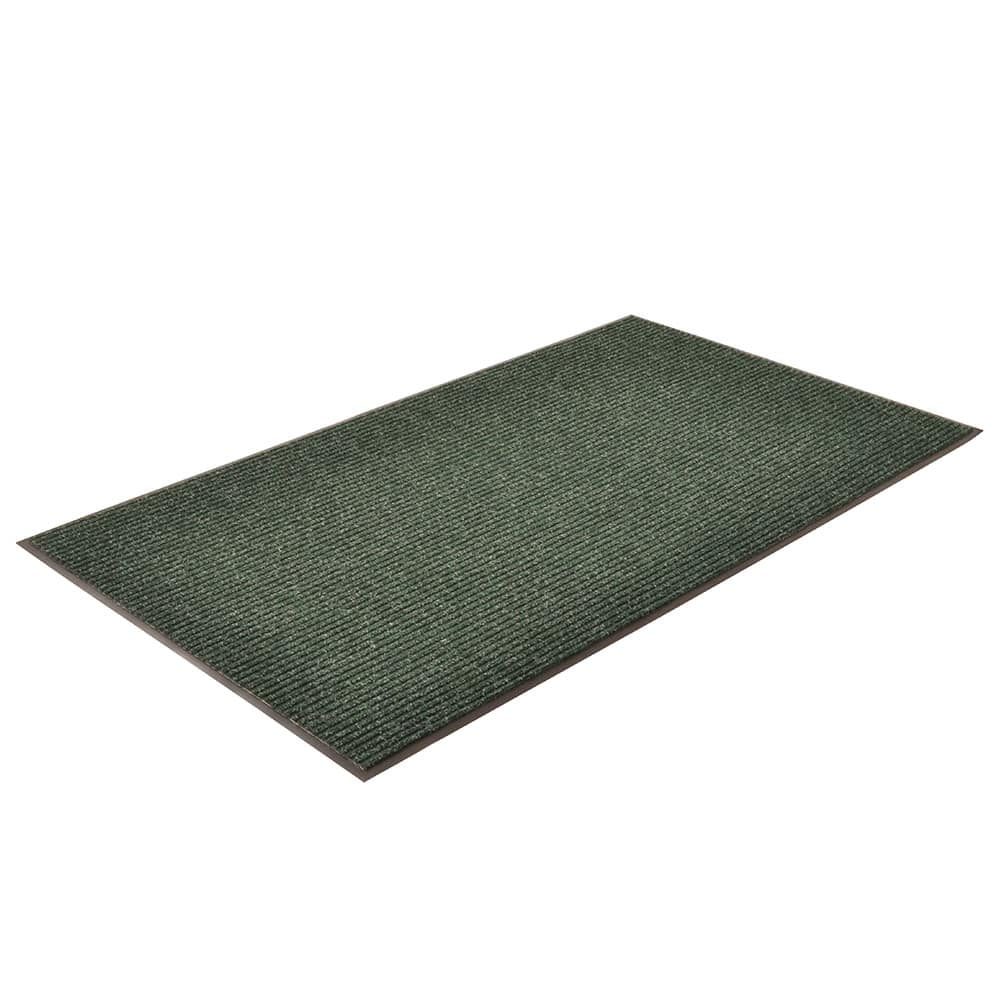 "Notrax T39S0046GN Bristol Ridge Scraper Floor Mat, 4 x 6 ft, 1"" Vinyl Border, Forest Green"