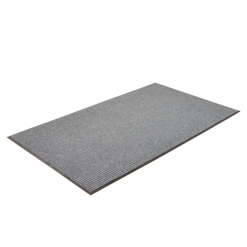 "Notrax T39S0035BU Bristol Ridge Scraper Floor Mat, 3 x 5 ft, 1"" Vinyl Border, Slate Blue"