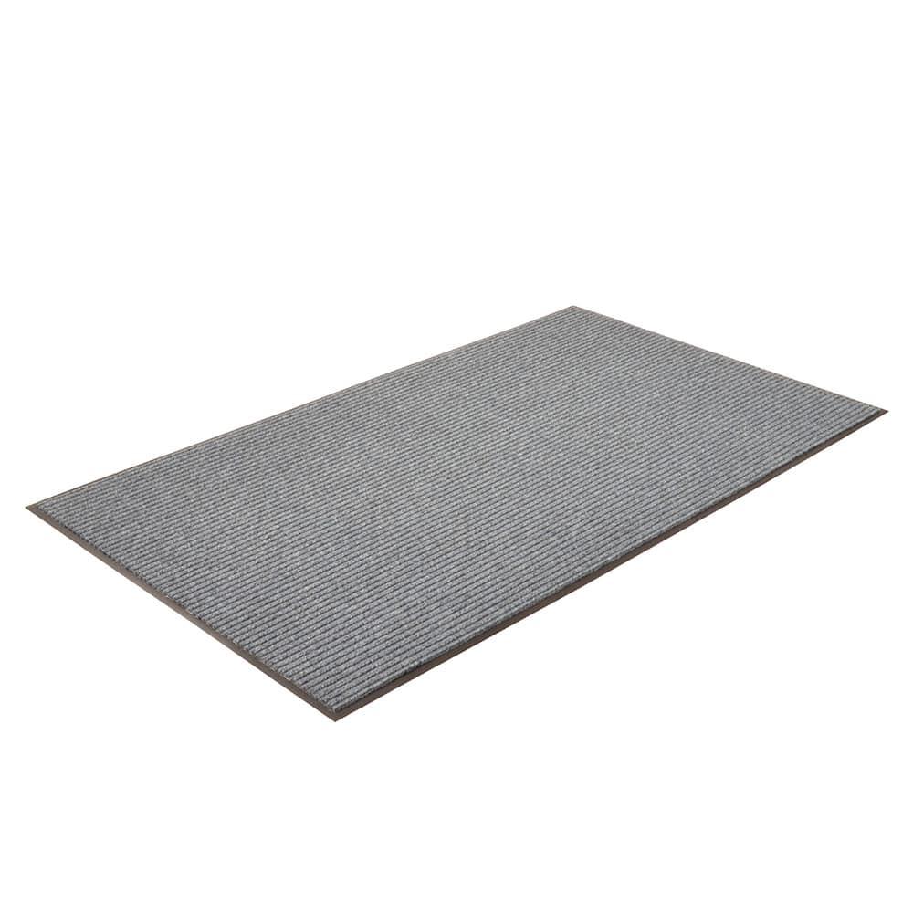 "Notrax T39S0310BU Bristol Ridge Scraper Floor Mat, 3 x 10 ft, 1"" Vinyl Border, Slate Blue"