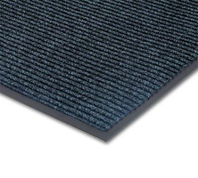 "Notrax 4458-189 Bristol Ridge Scraper Floor Mat, 4 x 60 ft, 1"" Vinyl Border, Slate Blue"