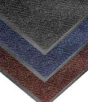 "Notrax T40S0023CH Chevron Entrance Matting, Low Profile 5/16"" Thick, 2 x 3 ft, Charcoal"
