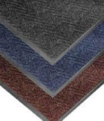 "Notrax T40S0023BU Chevron Entrance Matting, Low Profile 5/16"" Thick, 2 x 3 ft, Slate Blue"
