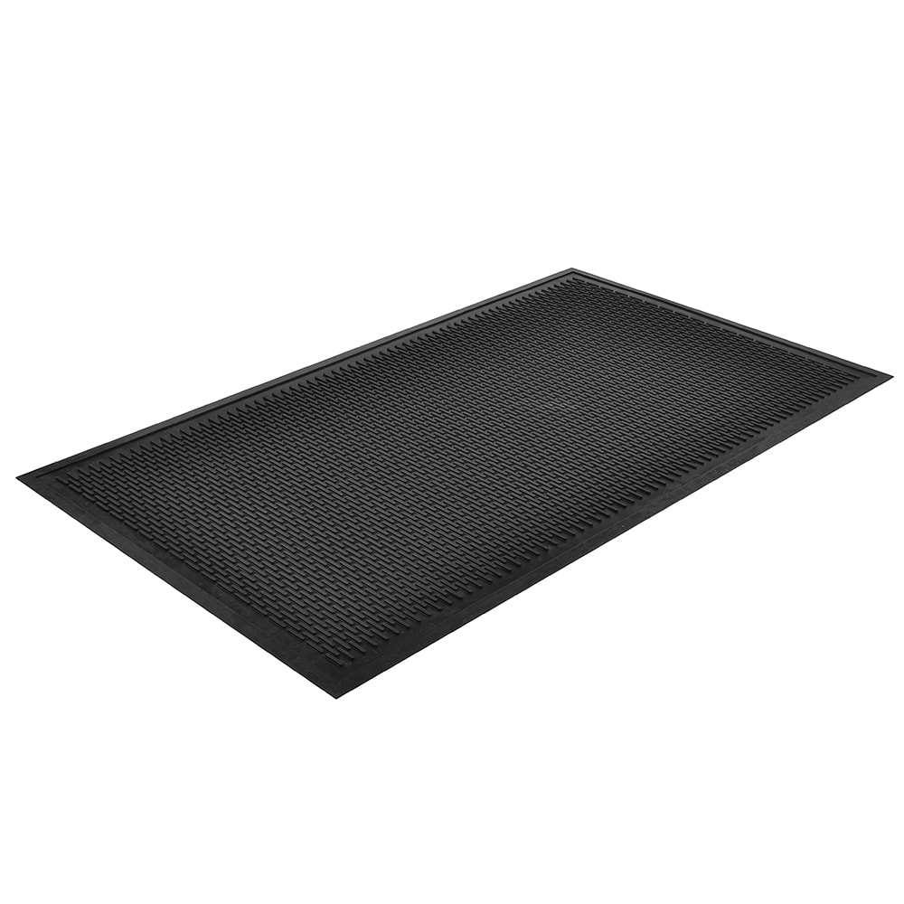 "Notrax T29U0046BL Ridge Scraper Entrance & C-Store Floor Mat, 4 x 6 ft, 1/4"" Thick, Black"