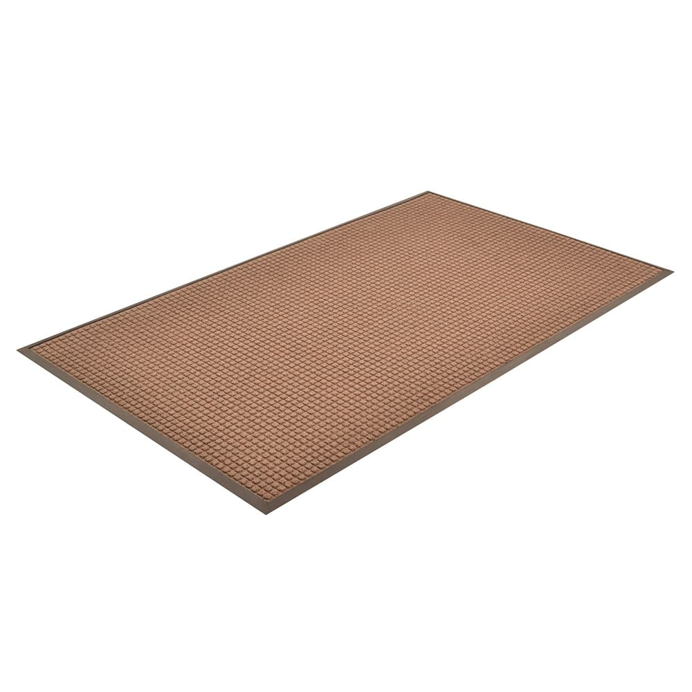 Notrax T35S0046BR Water Master Carpet, 4 x 6 ft, Rubber Base, Stain / Fade Resistant, Dark Brown