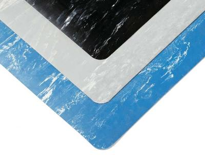 Notrax 47-0S2436-GY Marble Sof-Tyle Floor Mat, 2 x 3 ft, 1/2 in Thick, Marble Gray