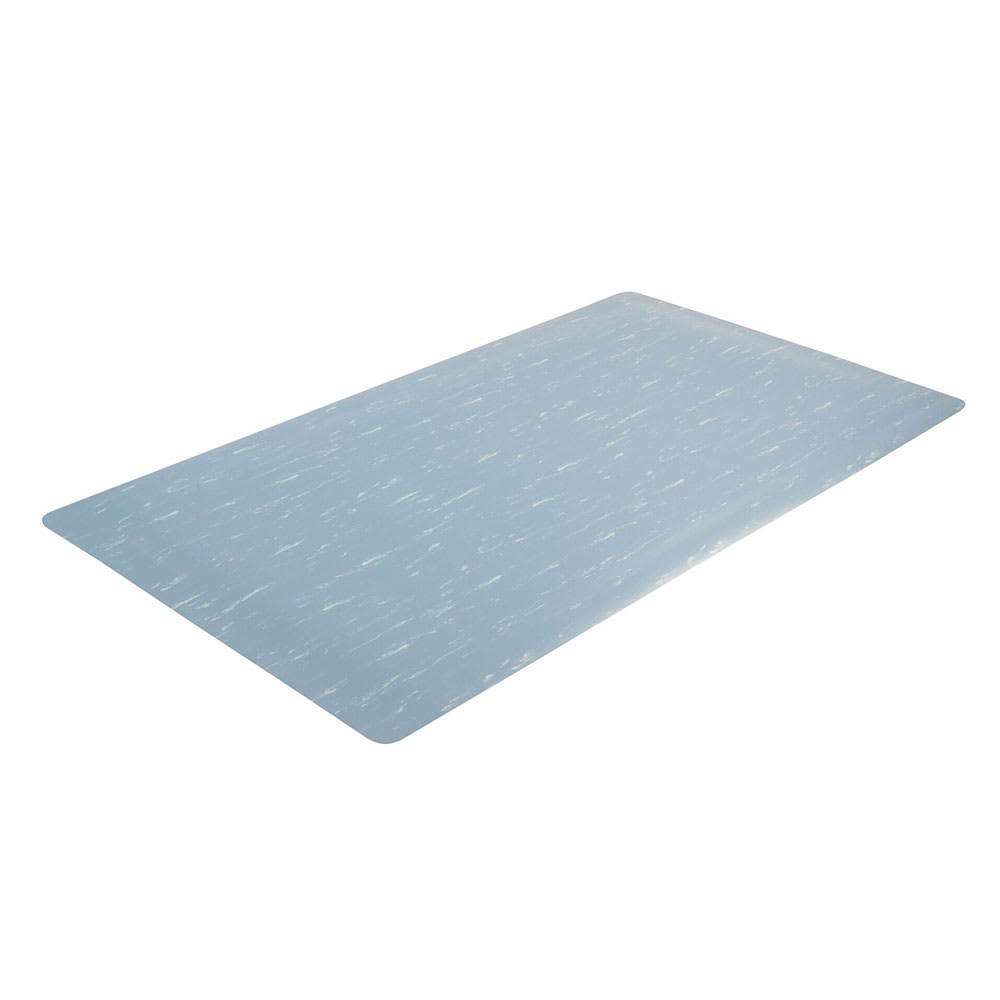 "Notrax 511S0024BU Heavy Duty Vinyl Mat, 2-ft x 4-ft x 1/2"", Blue"