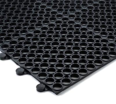 "Notrax T16U0034BL Tek-Connect General Purpose Floor Mat, 3 x 4 ft, 1/2"" Thick, Black"
