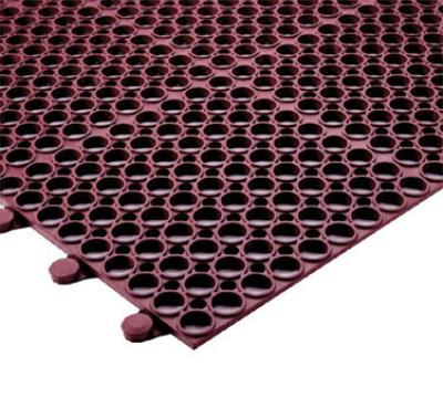 """Notrax T16U0034RD Tek-Connect Grease Resistant Floor Mat, 3 x 4 ft, 1/2"""" Thick, Red"""