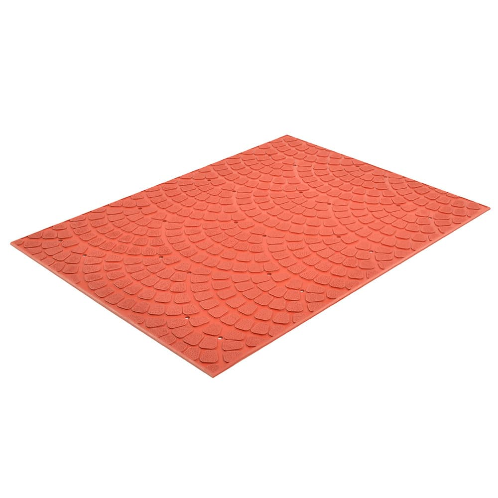 "Notrax T22U0034RD Grip True Grease-Resistant Floor Mat, 3 x 4 ft, 3/8"" Thick, Red"