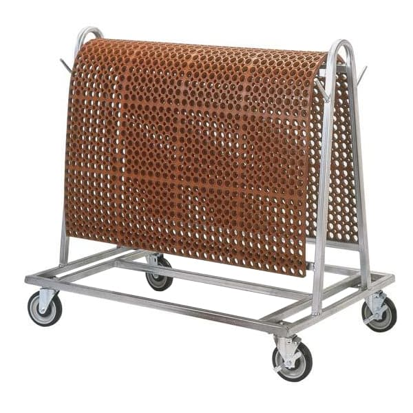 Notrax T44SRACK00 1 Level Galvanized Steel Utility Cart w/ 500 lb Capacity, Flat Ledges