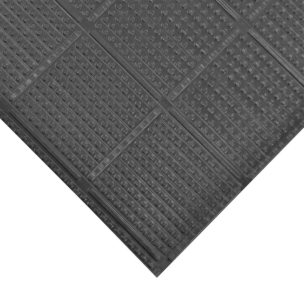Notrax 765S0038BL Deep-Freeze Floor Mat - 3' x 8', Vinyl, Black