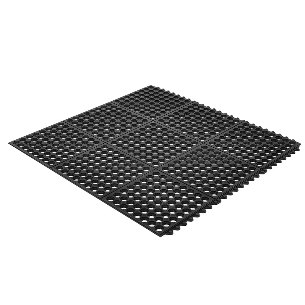 "Notrax T32U0033BL Ultra Mat General Purpose Floor Mat, 3 x 3 ft, 1/2"" Thick, Black"