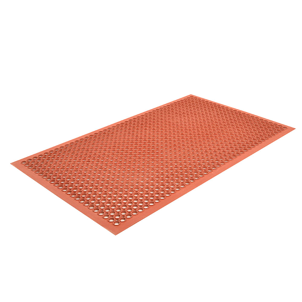 Notrax T30S0035RD Apex Competitor Anti-Fatigue Floor Mat - 3' x 5', Rubber, Red