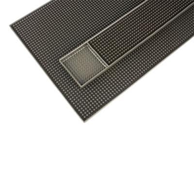 "Notrax T98-4490-321 Bar Rail Mat - Molded Rubber Fingers,12x18"" Brown"