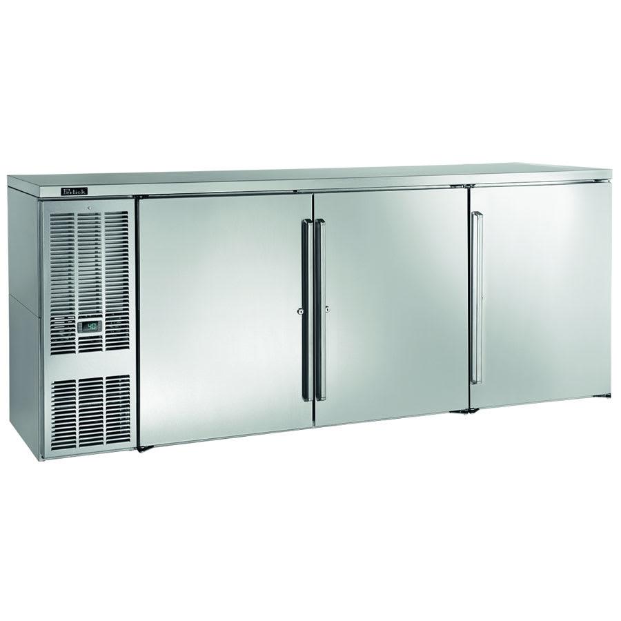 "Perlick BBS84S-S 84"" (3) Section Bar Refrigerator - Swinging Solid Doors, 120v"