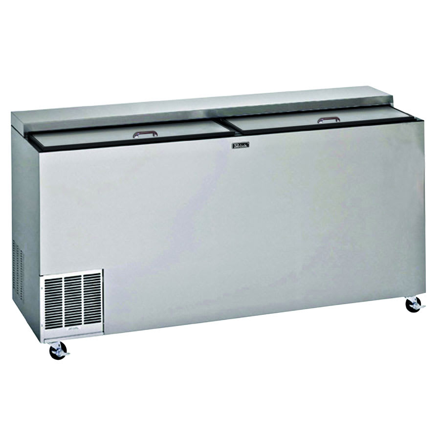 "Perlick BC72-STK 72"" Forced Air Bottle Cooler - Holds (679) 12-oz Bottles, Stainless Interior, 115v"