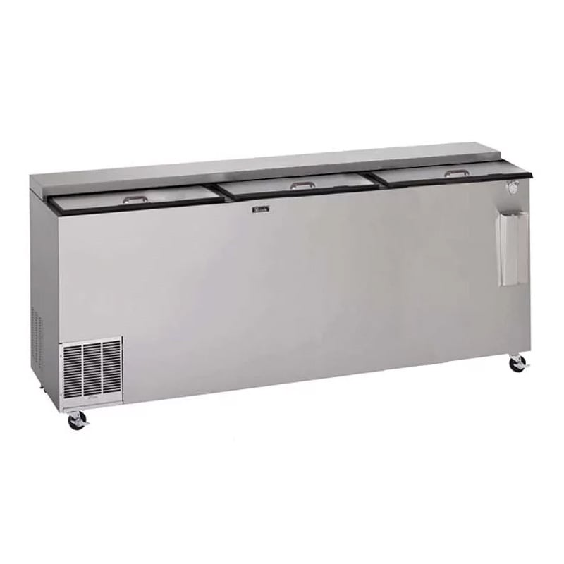 """Perlick BC96LT 96"""" Forced Air 1392-Capacity Bottle Cooler - Stainless Interior, 115v"""