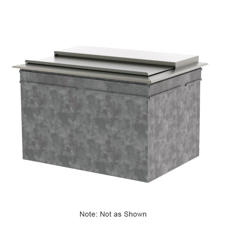 Perlick DI36IC10 36-in Drop-In Ice Chest w/ 80-lb Capacity, 10 Circuit Cold Plate, Covers