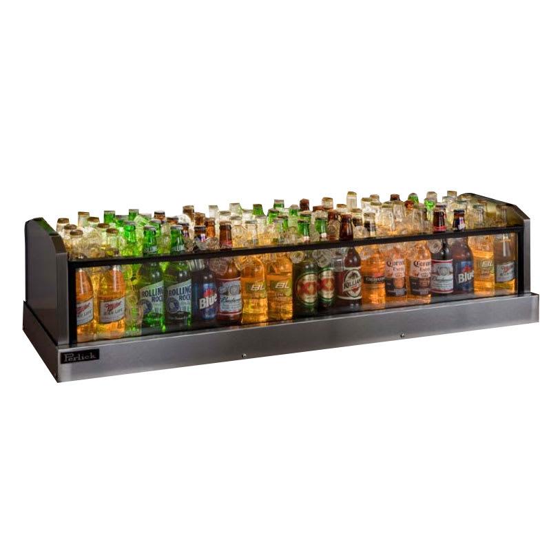 Perlick GMDS14X48 48-in Glass Merchandiser Display w/ Dual Drain, 72-Bottle