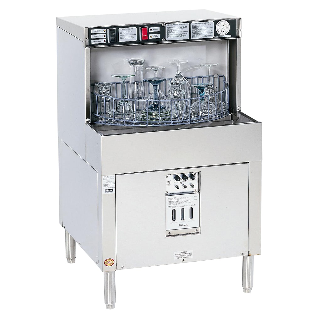 Perlick PKBR24 24 in Underbar Glass Washer w/ Batch Rotary, Stainless
