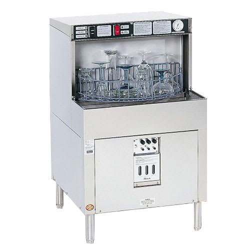 Perlick PKBR24R 24-in Underbar Batch Rotary Glass Washer w/ Right Panel, Stainless