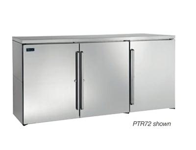 """Perlick PR72 72"""" (3) Section Bar Refrigerator - Swinging Solid Doors, 120v"""