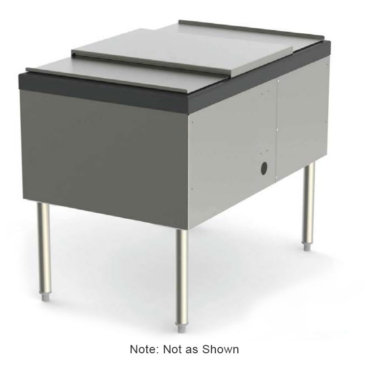 Perlick SS30IC20 30-in Pass Thru Ice Chest Service Station w/ 20 Circuit Cold Plate, 144-lb