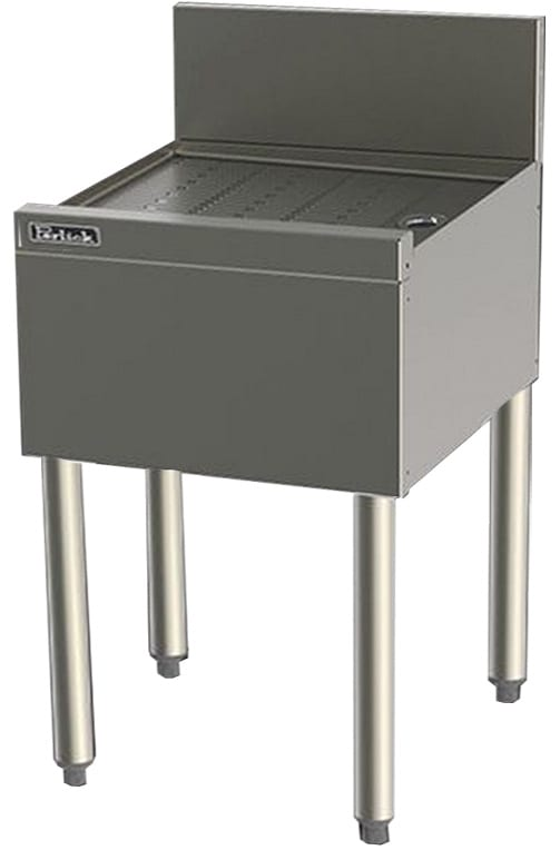 Perlick TS16 16-in Underbar Drainboard w/ Embossed Top, Stainless