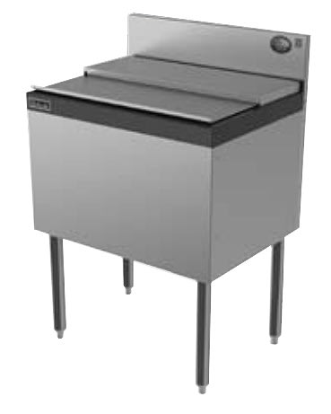 Perlick TS18IC 18-in Modular Ice Chest w/ ABS Top Ledge, 35-lb Capacity, Stainless