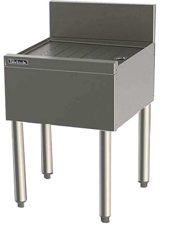 Perlick TS22 22-in Underbar Drainboard w/ Embossed Top, Stainless