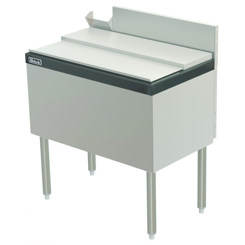"Perlick TS24IC10-STK 24"" Under Bar Ice Bin w/ 50 lb Capacity - Stainless"
