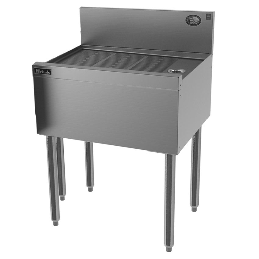 "Perlick TS24-STK Under Bar Freestanding Drainboard w/ 6"" Backsplash - 24"" x 18.56"", Stainless"