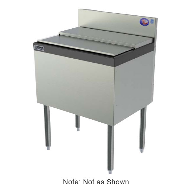 Perlick TS36IC 36-in Modular Ice Chest w/ ABS Top Ledge, 85-lb Capacity, Stainless