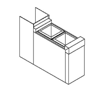 Perlick TS6CO2 6-in Underbar Filler Section w/ Access Cutout & 2-Bottle Wells,