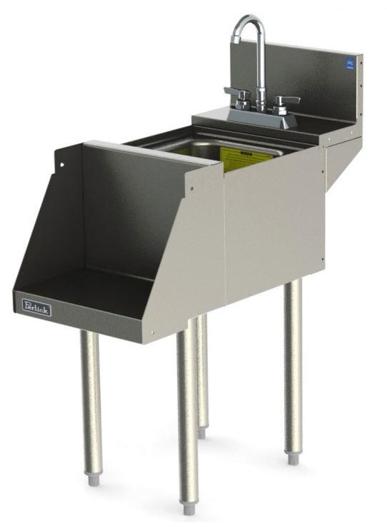 Perlick TSD14BLW 14-in Blender Station w/ Dump Sink & Recessed Shelf, Stainless