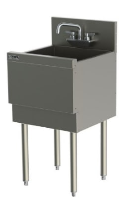Perlick TSD181CA 18-in Underbar Sink w/ 1-Compartment & Extra Capacity, Stainless