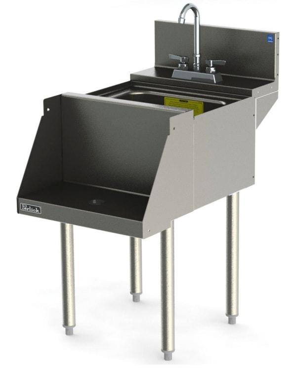 Perlick TSD18BLW 18 in Blender Station w/ Dump Sink, Recessed Shelf, Stainless