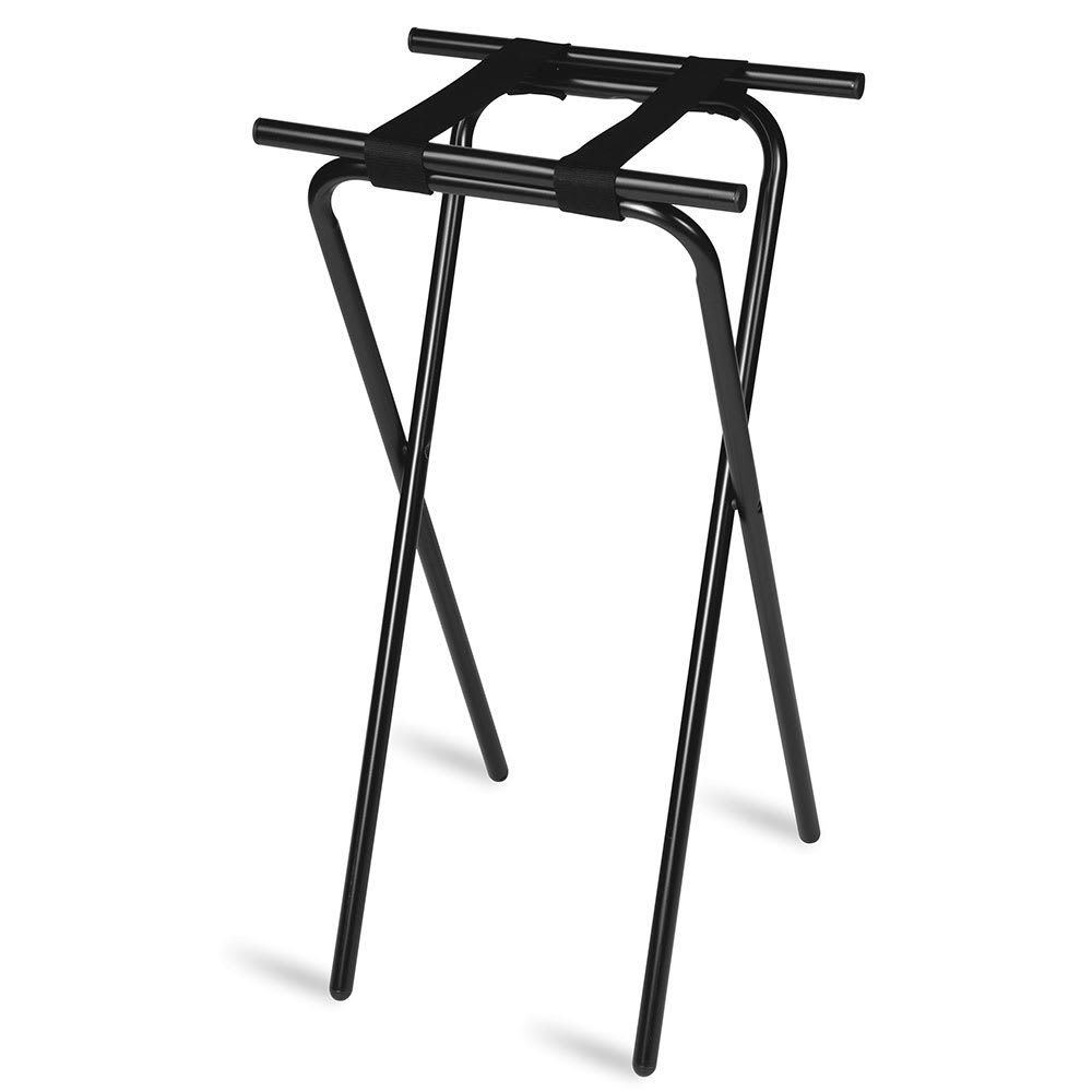 "CSL 1036BL-1 36"" Extra Tall Tray Stand, Black Tubular Frame, Black"
