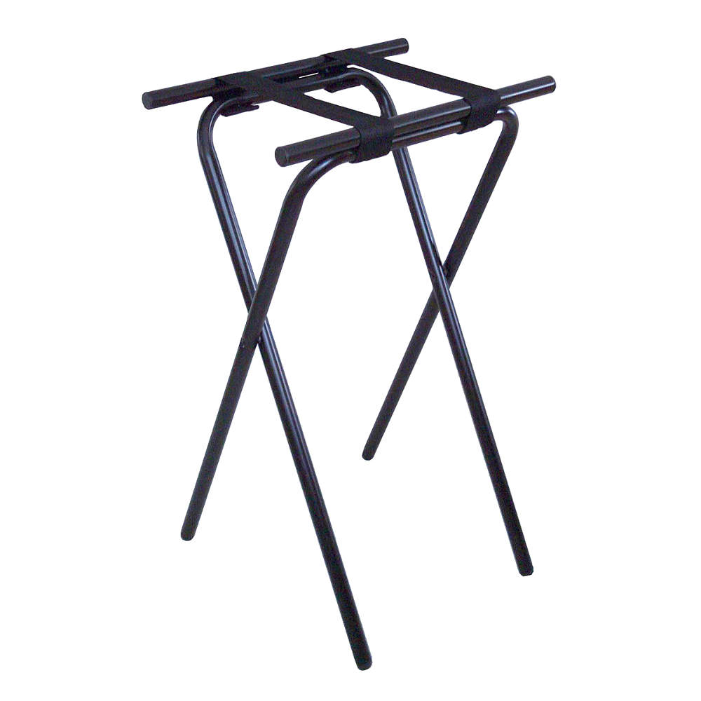 "CSL 1053BL 31"" Folding Tray Stand - Steel, Black"