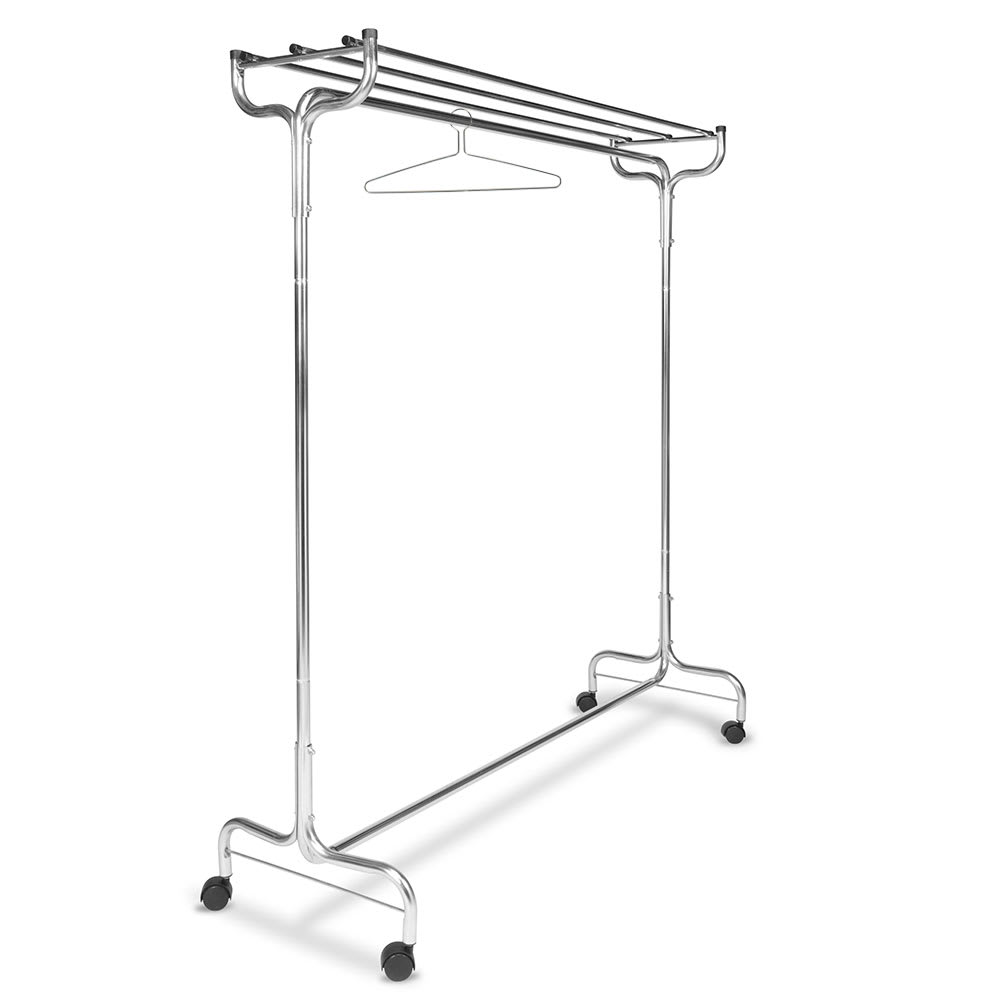 "CSL 1075-60P 60"" Portable Valet w/ Hat Rack, 18 Perma-Hangers, Chrome"