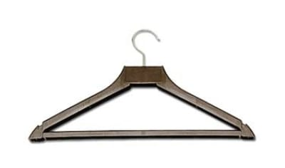 "CSL 1160 17"" Hanger w/ Open Hook, Brown Plastic"