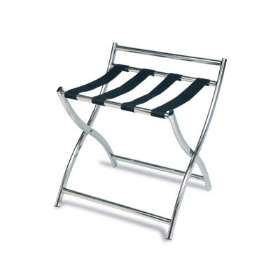 """CSL 199SS-BL 22.5"""" Luggage Rack w/ 4 Black Straps, Stainless"""