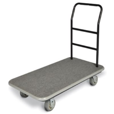 CSL 2100GY-060 GRY Utility Cart w/ Gray Carpet, 5-in Gray Poly Casters w/ Black Bumper