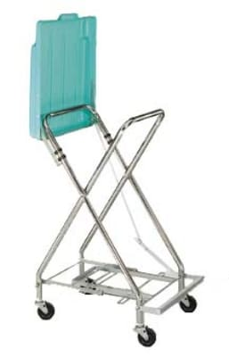 CSL 5055 Adjustable Laundry Bag Stand w/ Self Closing Plastic Cover