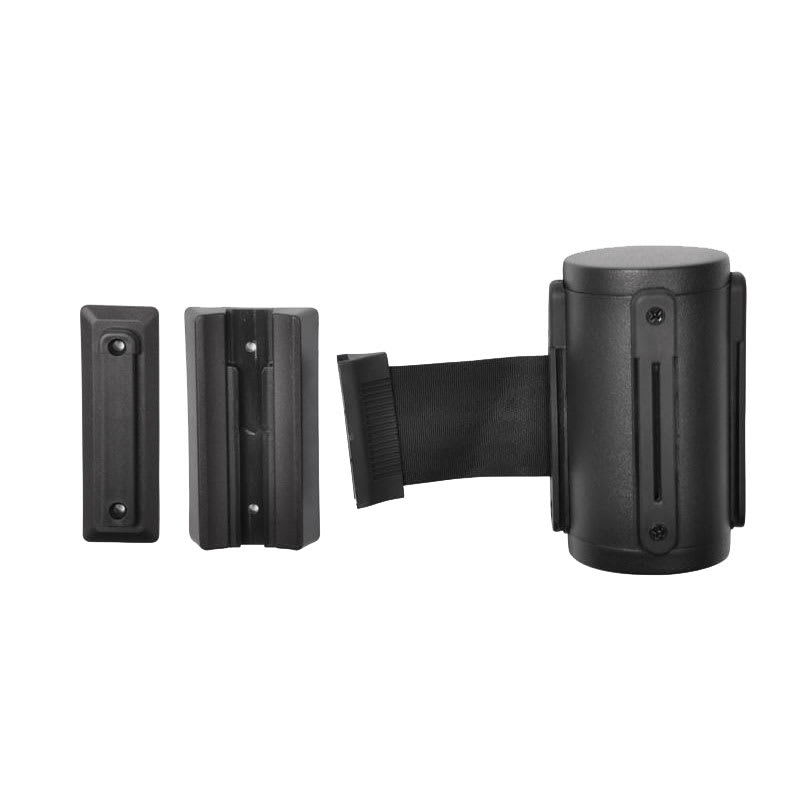 CSL 5515BK-BLK Wall Mount Unit w/ 9.5-ft Black Belt, Black Stainless