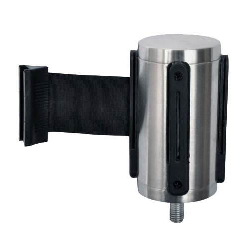 CSL 5521-BLK Belt Head w/ 9.5 ft Black Belt, Brushed Stainless