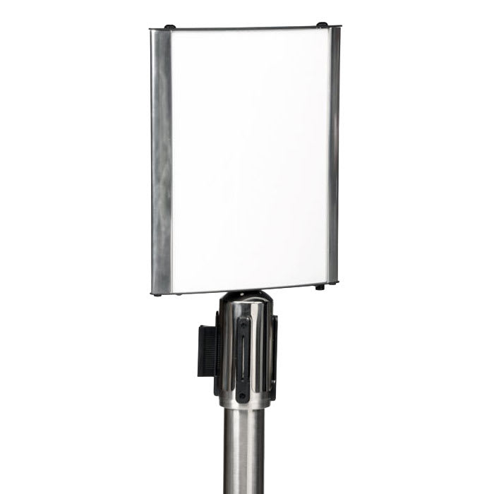 CSL 5547 Sign Holder For Crowd Control Stanchion, Aluminum Frame