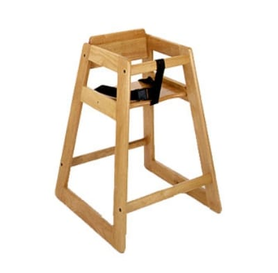CSL 822LT Stackable Economy Wooden High Chair, Light Finish